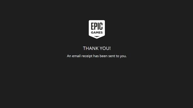 Lấy game thành công trên Epic Game Store